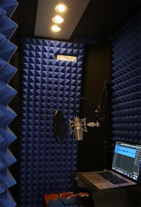 Steve Edwards Home Studio Custom Booth with TLM103 mic